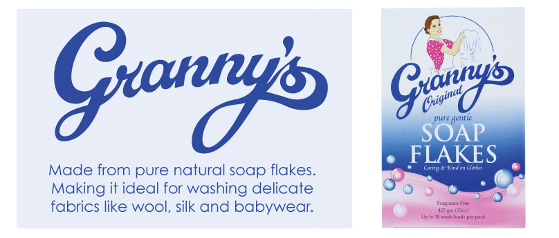 Grannys Pure Natural Soap Flakes Banner