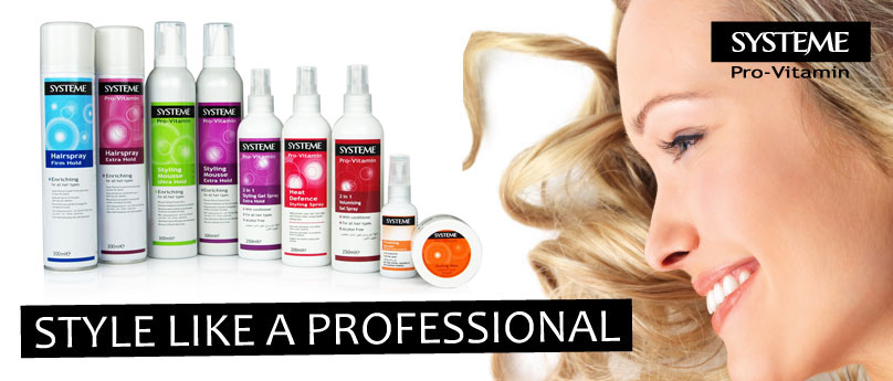 Systeme hair styling banner